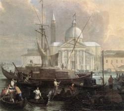 The Sea Custom House With San Giorgio Maggiore detail