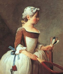 Chardin Girl with Racket and Shuttlecock