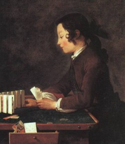 Chardin The House of Cards 1740