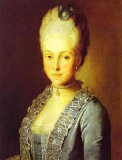Portrait of alexandra perfilyeva nee countess tolstaya 1770s