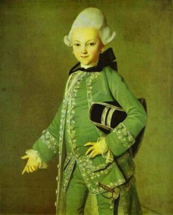Portrait of alexey bobrinsky as a child 1769 xx the russian
