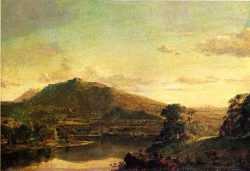 Edwin Figures in a New England Landscape