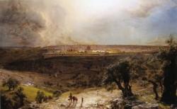 K edwin jerusalem from the mount of olives